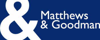 goodman logo. matthews \u0026 goodman - property advisors informed, impartial and independent advice logo